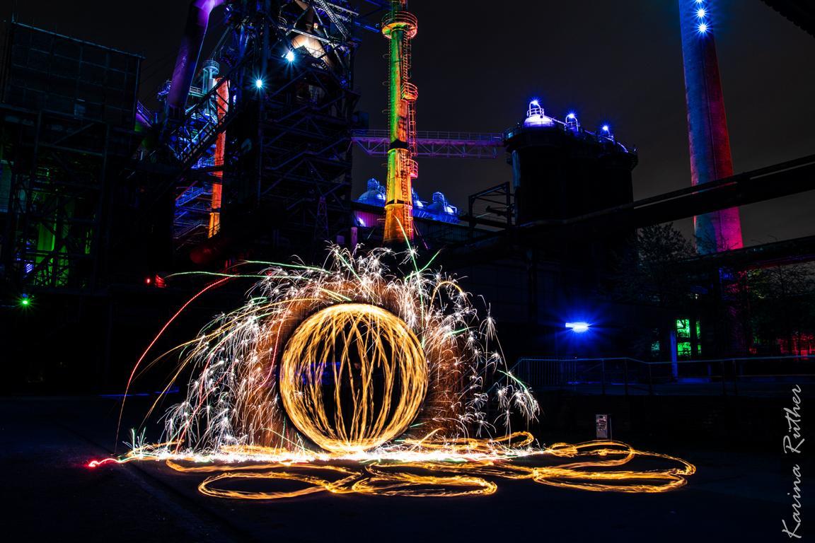 Lightpainting im Landschaftspark Duisburg – Workshop mit Zolaq