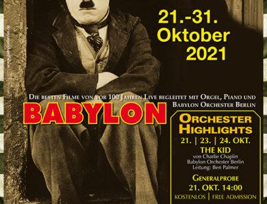 Babylon Berlin: 12. Stummfilmfestival 21.10.-31.10.21